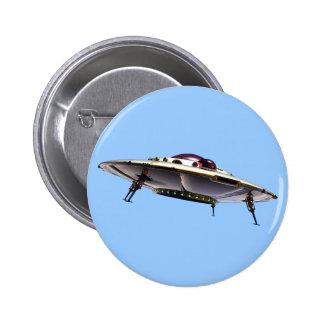 Botón metálico del UFO Pin Redondo De 2 Pulgadas