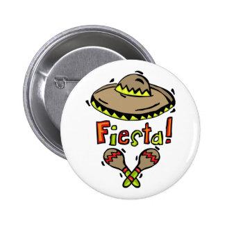 Botón mexicano de la fiesta pins