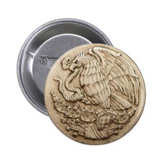 Botón mexicano del águila pin redondo de 2 pulgadas