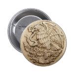 Botón mexicano del águila pins
