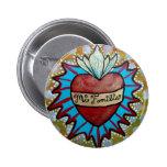 """Botón """"MI Familia """" del diseño del corazón de Mila Pins"""
