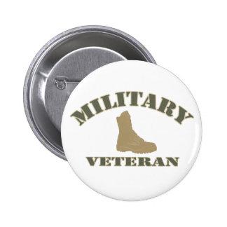 Botón militar del veterano pins