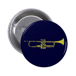 Botón minimalista de la trompeta pin redondo de 2 pulgadas