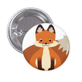 Botón minúsculo del Fox rojo Pin Redondo De 1 Pulgada