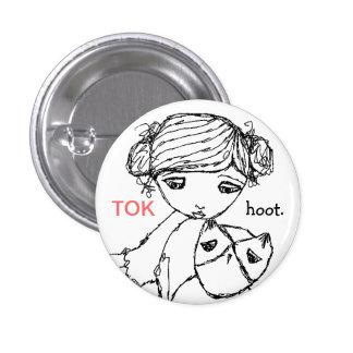 Botón minúsculo del pitido del tok de TKDC Pin Redondo De 1 Pulgada