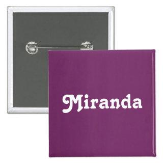 Botón Miranda Pin Cuadrado