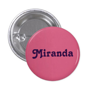Botón Miranda Pin Redondo De 1 Pulgada