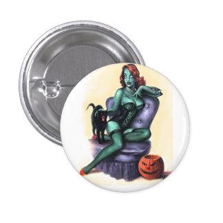 Botón modelo del chica de Halloween Pin