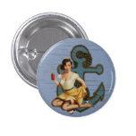 Botón modelo del chica del marinero chapa redonda 2,5 cm