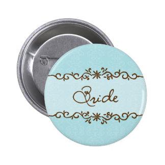 Botón moderno de la novia de la elegancia pin