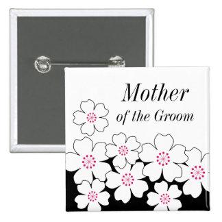 Botón moderno del ensayo de la flor de cerezo pins