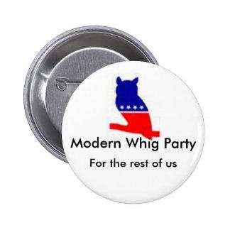 Botón moderno del fiesta de Whig Pin Redondo De 2 Pulgadas