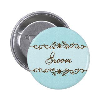 Botón moderno del novio de la elegancia pins