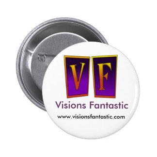 """Botón """"moderno"""" fantástico de las visiones pin redondo de 2 pulgadas"""