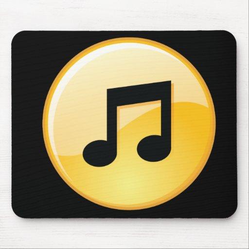 Botón Mousemat de la música Alfombrilla De Ratón