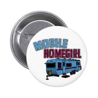 Botón móvil del Homegirl Pin Redondo De 2 Pulgadas