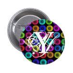 Botón multicolor de los dientes de león de la letr pin
