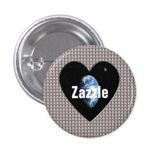 Botón mundial de los diamantes de Zazzle Pin Redondo De 1 Pulgada