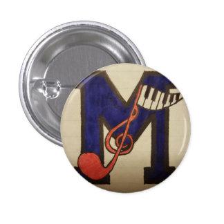 Botón musical pin redondo de 1 pulgada
