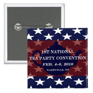 Botón nacional del convenio de fiesta del té