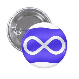 Botón nativo de la bandera de Metis del arte del b Pins