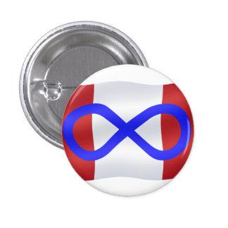 Botón nativo de la bandera de Metis del arte del b Pin