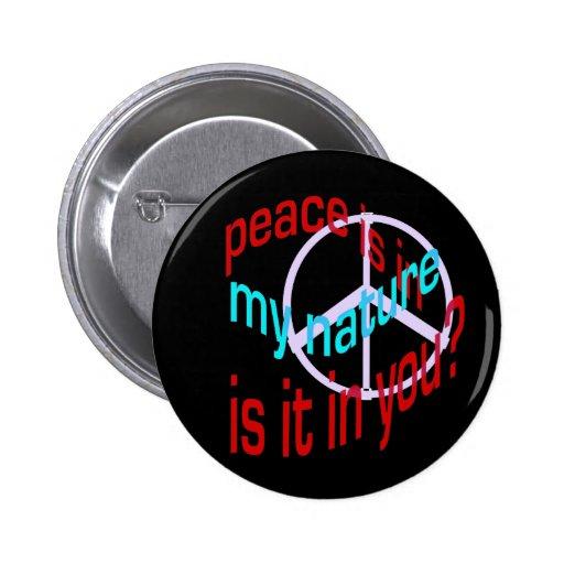 Botón natural de la paz