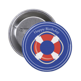 Botón náutico del feliz cumpleaños de la boya de