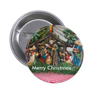 Botón/navidad/natividad Pin Redondo 5 Cm
