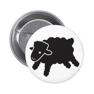 botón negro a solas del cordero-starr pins