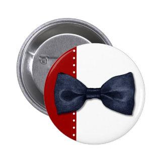 Botón negro de Bowtie Pins