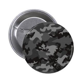 Botón negro de encargo de Camo Pin Redondo De 2 Pulgadas