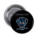 Botón negro de Labrador Dali Pins