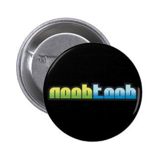 Botón negro de Noobtoob Pin Redondo De 2 Pulgadas