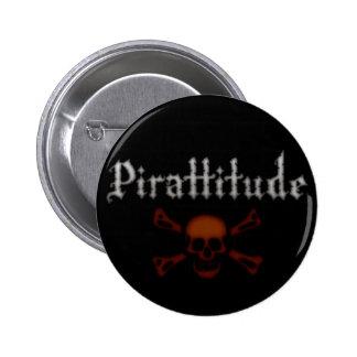 Botón negro de Pirattitude Pin Redondo De 2 Pulgadas