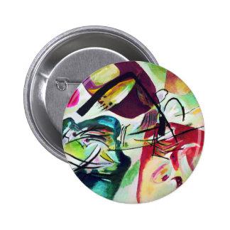 Botón negro del arco de Kandinsky Pin