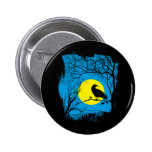 Botón negro del cuervo pin