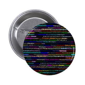 Botón negro del fondo de Philadelphia Pin Redondo De 2 Pulgadas