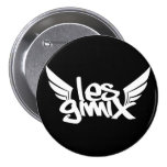Botón negro del logotipo de Les Gimix Pin