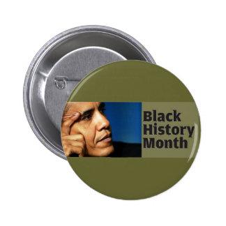 Botón negro del mes de la historia de Barack Obama Pin