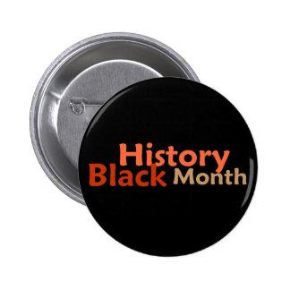 Botón NEGRO del MES de la HISTORIA Pin