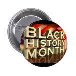 Botón negro del mes de la historia pins