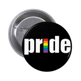 Botón negro del orgullo pin redondo de 2 pulgadas