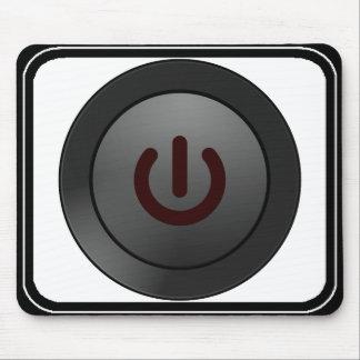 Botón negro - en símbolo alfombrillas de raton