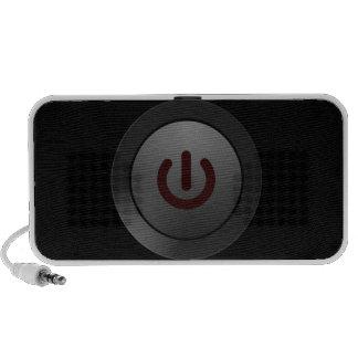 Botón negro - en símbolo laptop altavoz