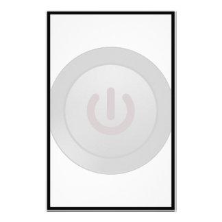 Botón negro - en símbolo papeleria personalizada