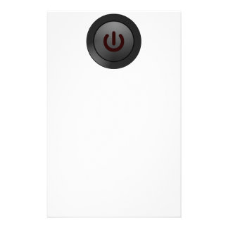 Botón negro - en símbolo papelería personalizada