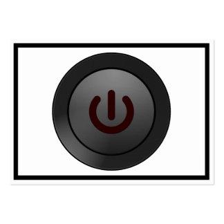 Botón negro - en símbolo plantillas de tarjeta de negocio