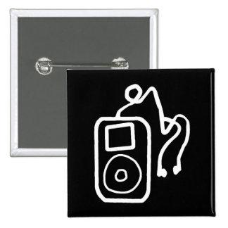 Botón negro exhausto de iPod Pins