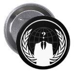 Botón negro internacional anónimo pins